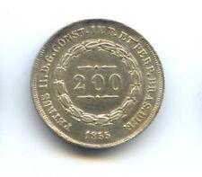 BRESIL PEDRO II (1831-1889) 200 REIS 1855 KM 469