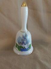 "Walt Disney ~Collectible Bell ~""Cinderellas Castle"" ~Ceramic~ 5 1/2"" Tall *"