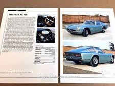 AC 428 Original Car Review Print Article J668 1970 1971 1972 1973