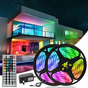 32.8 ft 65.6 ft LED Strip Lights 5050 Music Sync Bluetooth Remote Room Light Kit