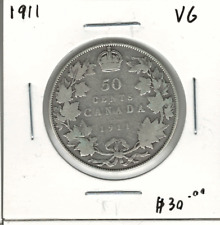 Canada 1911 Silver 50 Cents VG