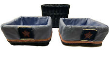 Set of Wicker Baskets from Pottery Barn Kids. 1x Large & 2x Medium Size w/ Liner