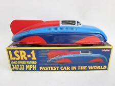 "LSR-1 Land Speed Record car Streamline Tin Plate Litho vtg style Repro LARGE 11"""