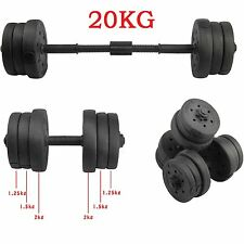 20KG Dumbbells Set Gym Dumbells Weights Biceps Workout Exercise Training Fitness