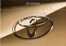TOYOTA 4RUNNER & Land Cruiser II VX 1994-1995 Regno Unito delle vendite sul mercato opuscolo