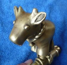 Cute Gorgeous Vintage Cow Ox Cattle Brass Garden / Outdoor Faucet New