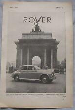 1950 Rover Original advert No.1