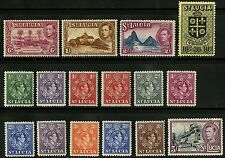 St Lucia   1938-48   Scott # 110-125 MLH Part Set