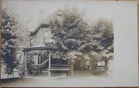 1908 Realphoto Postcard: Victorian Home - Bellevue, Pennsylvania PA