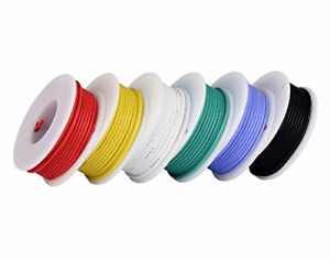 18awg Stranded Wire Kit Flexible Silicone 6 Color 18 Gauge Hook Up Different