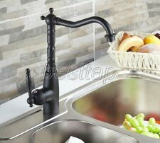 Black Oil Rubbed Brass Bathroom Kitchen Bar Vessel Sink Swivel Faucet Tap snf060