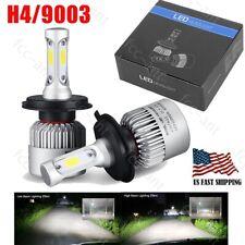 3-Sides H4 9003 LED Headlight Kit HB2 6000W 550000LM Hi/Lo Beam CREE COB Bulbs