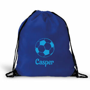 Personalised Football Gym Bag, PE bag, for School - Choose Colour, Add name