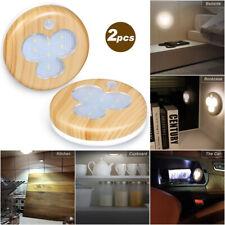 2Pcs USB Wireless Motion Sensor Night Light Toilet Wardrobe Aisle Stairway Lamp