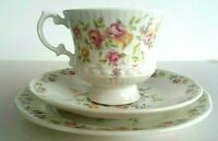 Elizabethan Trio Fine Bone China Floral Tea Cup Saucer Plate Made In England