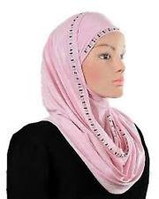 Metallic scarf Luxury Instant Hijab slip on 100% JERSEY Scarf Instant SHAWL WRAP
