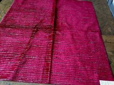 """CLARENCE HOUSE / HILL- BROWN Fabric Remnant - Textured Velvet   #2 - 27"""" x 25"""""""
