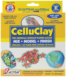 Activa-CelluClay Instant Paper-Mache 1lb-Gray