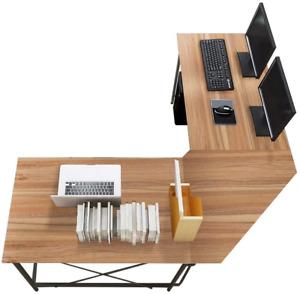 Computer Desk L Shaped Corner Desk Computer Workstation Large PC Laptop Table UK