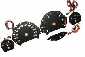 BMW E34 original design glow gauge plasma dials tachoscheibe glow shift indicato