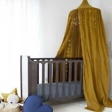Princess Bed Canopy Mosquito Net Child Play Tent Curtains Room Decor Brown