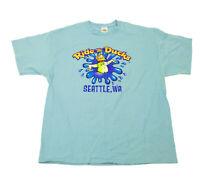 EUC Seattle WA Ride The Ducks Light Blue T Shirt XL