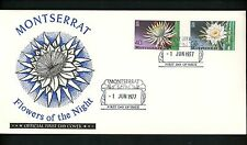 Postal History Montserrat FDC #367-368 Flowers plant of the night 1977