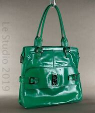MULBERRY Green Patent Leather Large Slim Purse