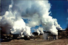 NUOVA ZELANDA NEW ZEALAND Taupo Steam bores wairakei geotermici Power POSTCARD 1970