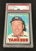 New York Yankees Mickey Mantle 1967 Topps #150 PSA 5 Ex Well Centered