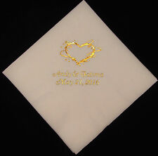 250 Personalized Wedding beverage napkins cocktail custom printed wedding favors