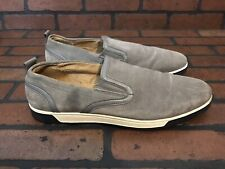 Cole Haan Quincy Slip-On Sneaker Gray Suede Size 12 Style# C13812