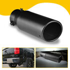 """2.5"""" Stainless Steel Car Exhaust Pipe Tip Tail Muffler Black Auto Parts Round Us"""