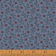 Vintage Blue Quilt Fabric, BTY 50544-5