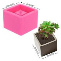 1PC Cube Concrete Silicone Mold Flower Pot Cement Vase Mould Garden Decor Tool