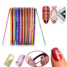 2X 1mm Nail Art Striping Tape Metallic Line Stickers Rolls Manicure Decor DIY