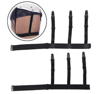 2pcs S Holders Adjustable Hidden Suspenders Keeping Shirts Tucked In All Day