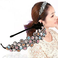 Fashion Women's Crystal Headband Plastic Hairband Hair Hoop Accessories Party