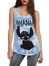 NEW Disney Lilo & Stitch OHANA Hawaii Flowers Racer Back Tank Top Hot Topic NEW