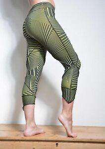 Geometric stripy Lycra Goa Leggings Pants Psytrance Yoga Hippy Festival women's