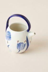 Anthropologie Tile Tile Testo Azure Creamer Chinoiserie Blue Floral Ceramic NEW