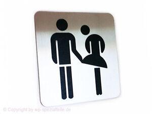 Toilettenschild WC Klo Türschild Toilette Schild V2a Dixi Lustiges Kloschild Tür