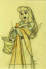 SLEEPING BEAUTY 1959, POSTCARD, CLEANUP ANIMATION DRAWING BY MARC DAVIS (1)