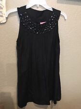 NWT! SHE'S Cool Blouse Tunic Black Beaded  Women's Size Medium
