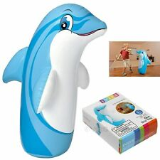 INTEX 3D Bop Bag Dolphin - Inflatable Blow Up Punching Bag Toy Gift  Kids Fun