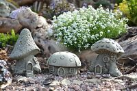 Fairy Mushroom House Set Stone Garden Ornament