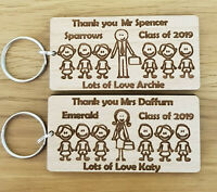 PERSONALISED KEYRING SCHOOL GIFTS FOR TEACHER NURSERY END OF YEAR TERM CHRISTMAS