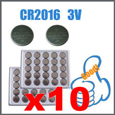 10 CR 2016 Stock Batteria Lotto CR2016 pile 3 V a bottone pila batterie 3V zb