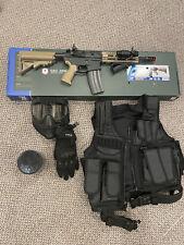 G&G CM16 Raider 2.0 6mm Airsoft Rifle in Tan w/ Gear Bundle