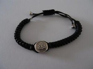 Gucci leather bracelet, black